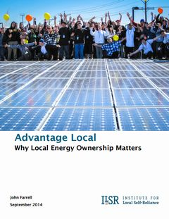 Advantage Local: Why Local Energy Ownership Matters
