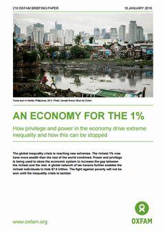オックスファム報告書、『最も豊かな1%のための経済』