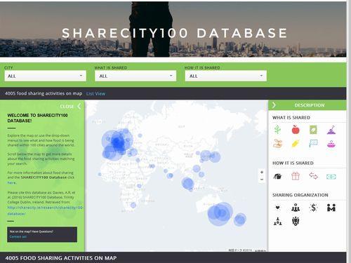 あなたの街でもフードシェアリングを見つけてみよう――世界100都市のフードシェアリングをデータベース化