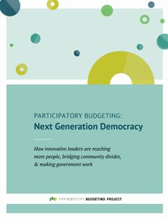 『参加型予算:次世代の民主主義』――住民が市の予算の使い道を決める