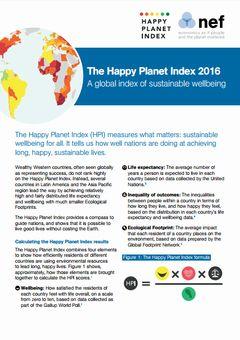 2016年世界幸福度指数:トップはコスタリカ、日本は58位