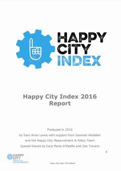 英国9都市の幸福度ランキング2016