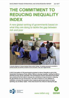 格差縮小コミットメント指数:「不平等を低減するための政府の取り組み」についての新指数