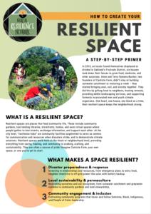コミュニティづくりの拠点となる「レジリエンス・スペース」